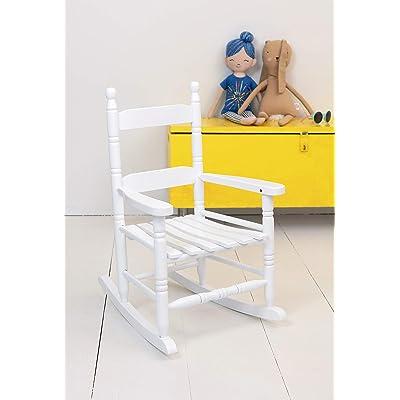 Jack-Post KN-10W Classic Child's Porch Rocker White : Patio Rocking Chairs : Garden & Outdoor
