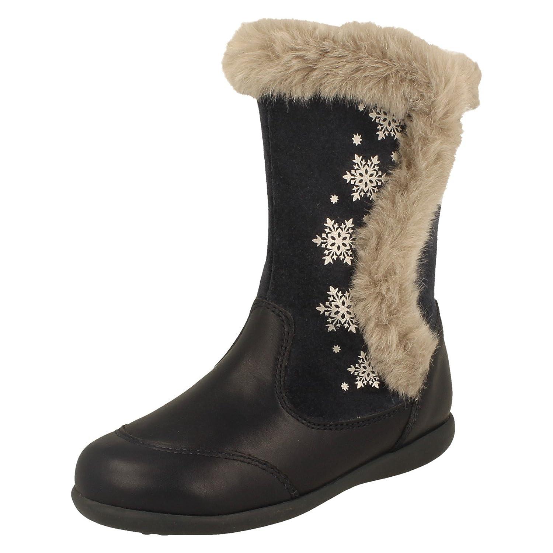 Start Rite Super Soft Princess Leather Stiefel Navy   8   F