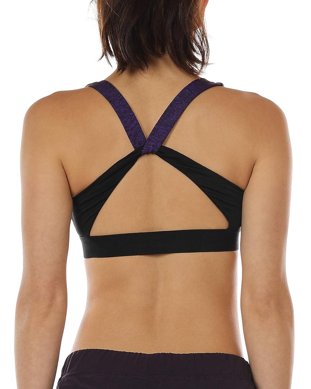 e08916eba icyzone Workout Sports Bras for Women - Women s Running Yoga Bra