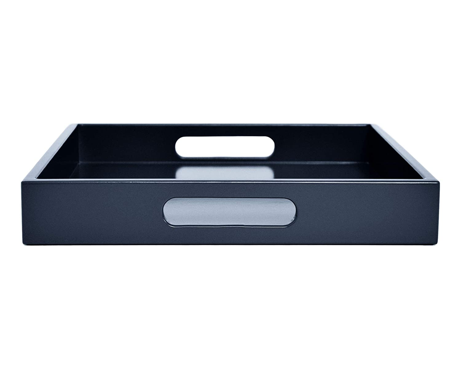 Large Dark Blue Tray with Handles