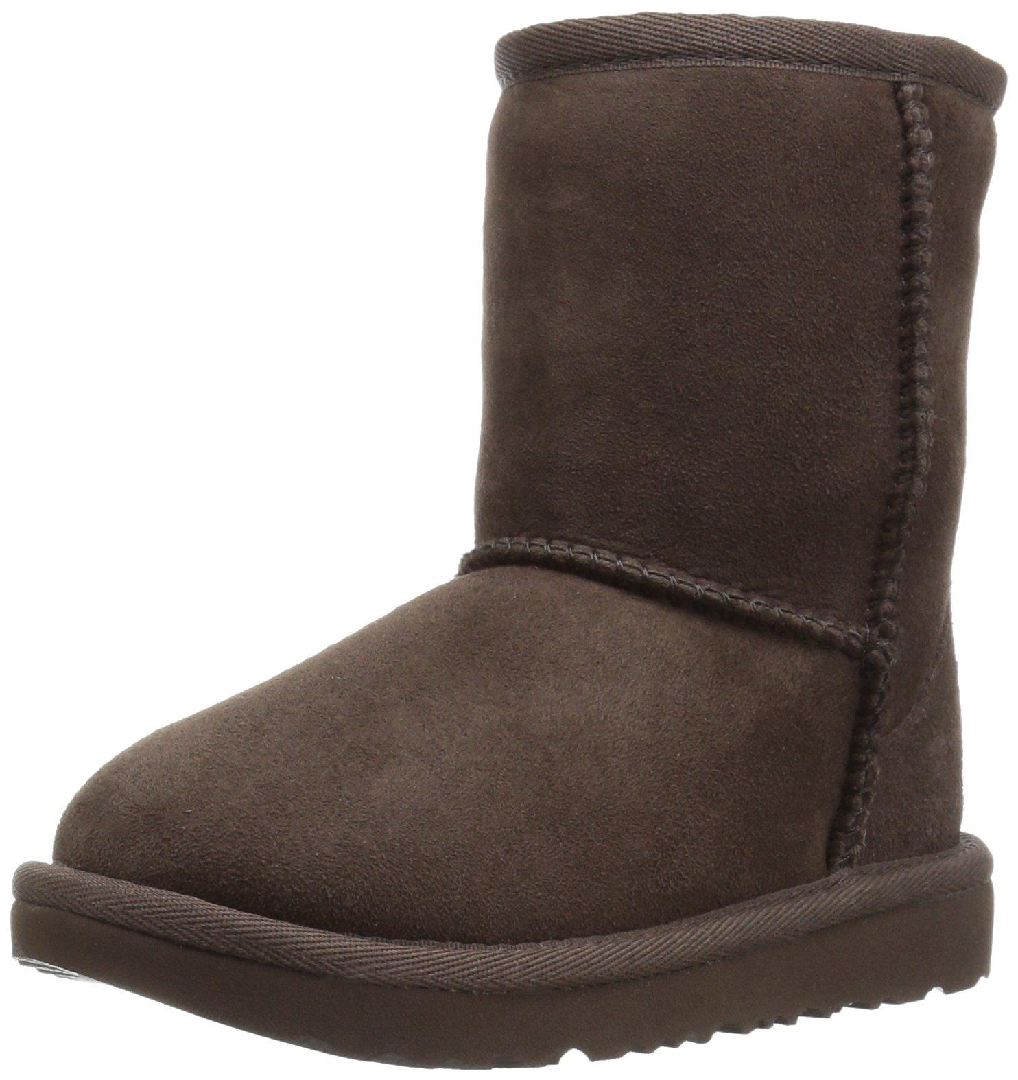 UGG Kids T Classic II Boot, Chocolate, 11 M US Little Kid