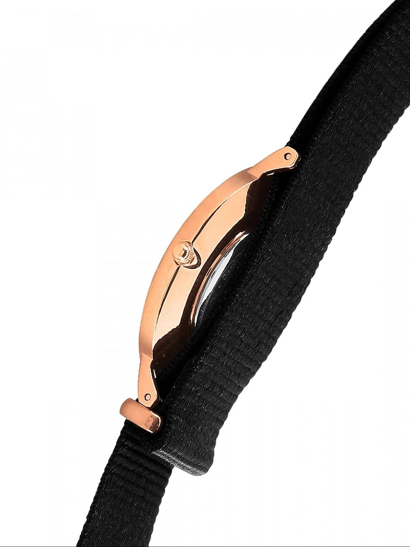 Daniel Wellingon Classic Cornwall Watch, Black NATO Band Rose Gold/Eggshell