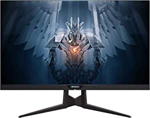 "Aorus AD27QD 27"" 144Hz 1440P FreeSync G-Sync Compatible Gaming Monitor, Exclusive Built-In ANC, 2560x1440 QHD Display"