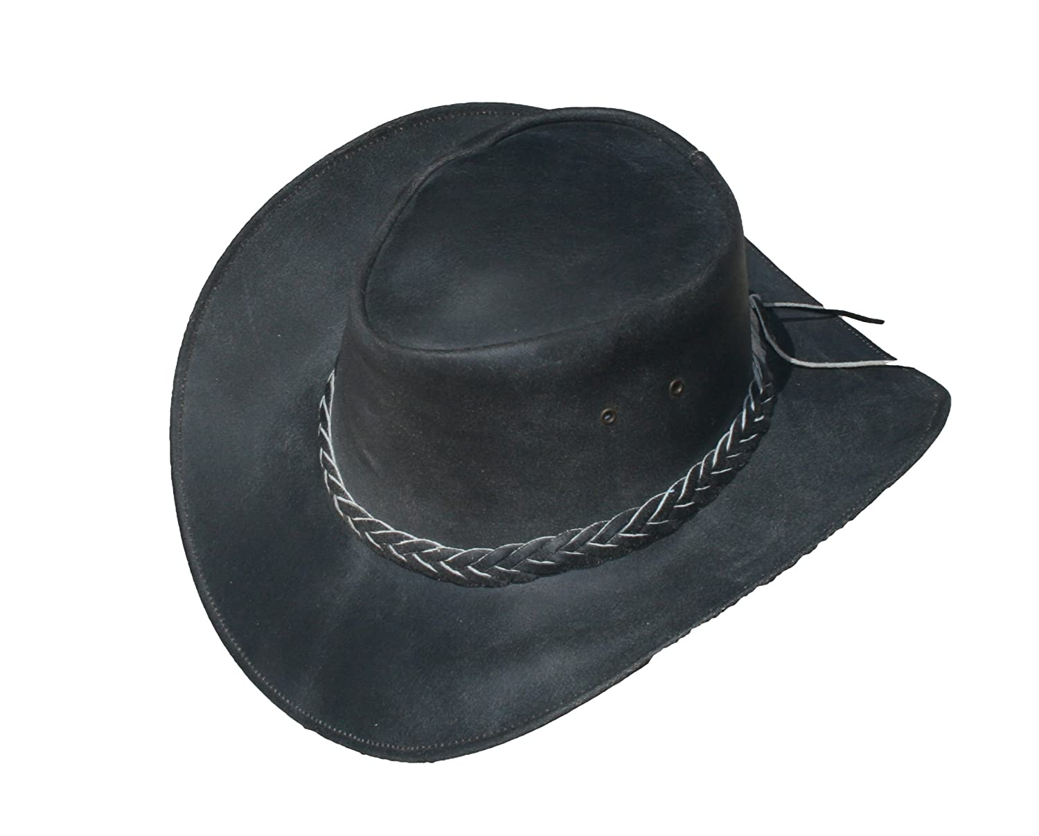 Old Harry s Hats Men s Western Style Leather Cowboy Hat at Amazon Men s  Clothing store  f58096b1423