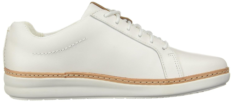 CLARKS Womens Amberlee Rosa Sneaker B0762TD69P 7.5 D US|White Leather