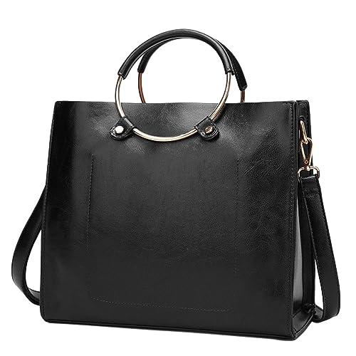 ABage Women s Leather Tote Bag Square Zipper Travel Shoulder Bags Handbag  Tote Bag 659f03fea2a14