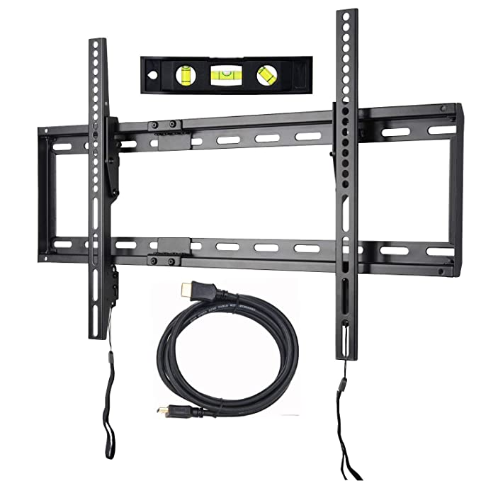 "VideoSecu Mounts Tilt TV Wall Mount Bracket for Most 23""- 75"" Samsung, Sony, Vizio, LG, Sharp LCD LED Plasma TV with VESA 200x100 400x400 up to 684x400mm, Bonus HDMI Cable and Bubble Level MF608B2 WT1"