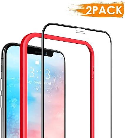 DEKOLY Protector de Pantalla para iPhone 11 Pro/iPhone XS/iPhone X Vidrio Templado [2-Pack] [Alta Definición] [Anti-rasguños] iPhone XI Película Protectora con Herramientas: Amazon.es: Electrónica