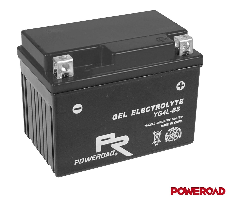 12V Gel Batterie - 4Ah - YTX4L-BS - YG4L-BS - inkl. Pfand 7, 50€ KYM Poweroad