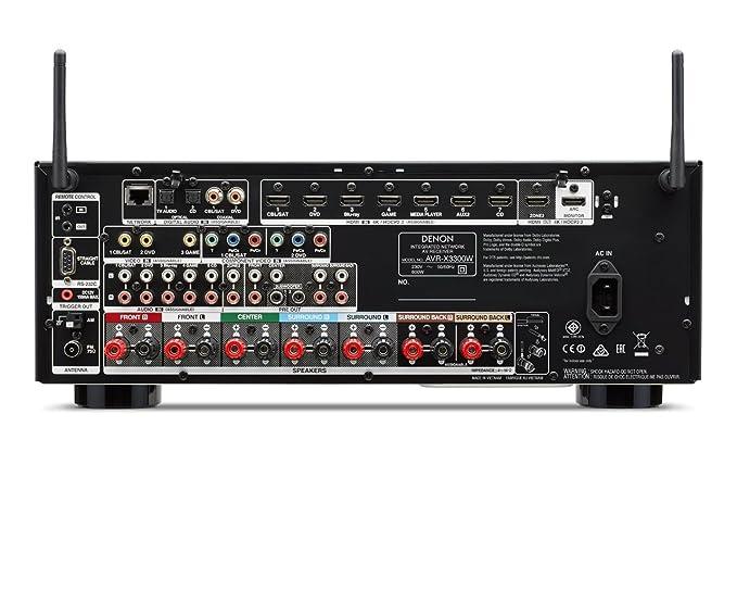Denon AVR-X3300W 105W 7.2canales Envolvente 3D Negro - Receptor AV (105 W, 7.2 Canales, Envolvente, 180 W, 0,05%, 100 dB): Amazon.es: Electrónica