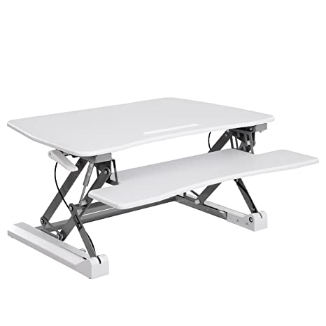 SONGMICS Mesa de pie Mesa para Ordenador Ajustable Mesa Grande para Ordenador portátil Monitores Doble Pantalla