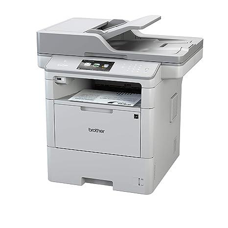 Brother DCP-L6600DW - Impresora multifunción láser Monocromo (Bandeja 520 Hojas, 40 ppm, USB 2.0, WiFi, Memoria de 512 MB) Color Blanco