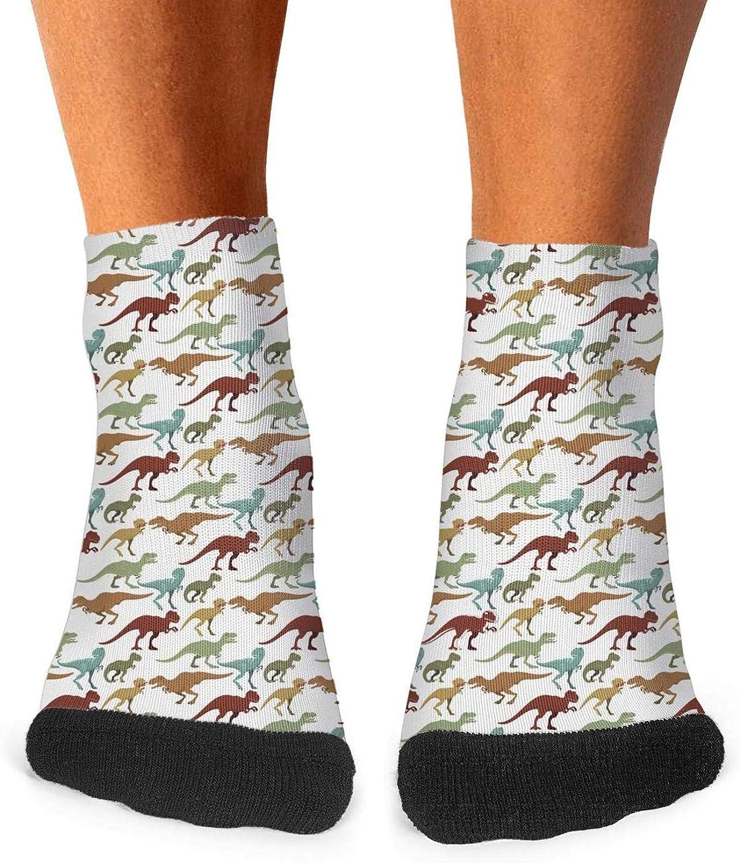 Floowyerion Mens Scary Dinosaurs Tyrannosaurus Novelty Sports Socks Crazy Funny Crew Tube Socks