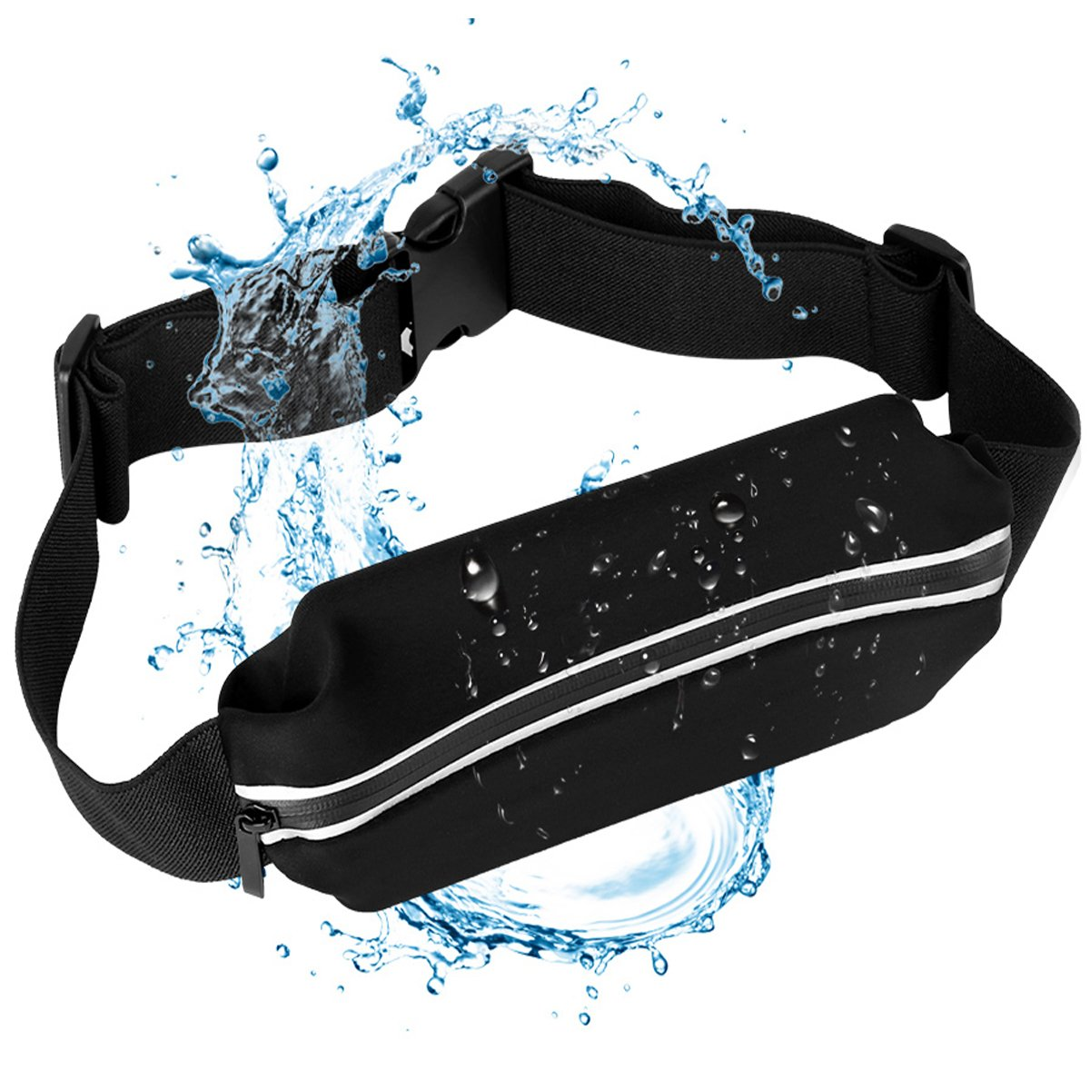 0f25470a3673 ZarkkA Running Waistbelt, Running Bag for Trainer Fanny Pack Waist Pouch  Adjustable Waist Belt Phone Holder Waist belt for Runner in Waterproof ...
