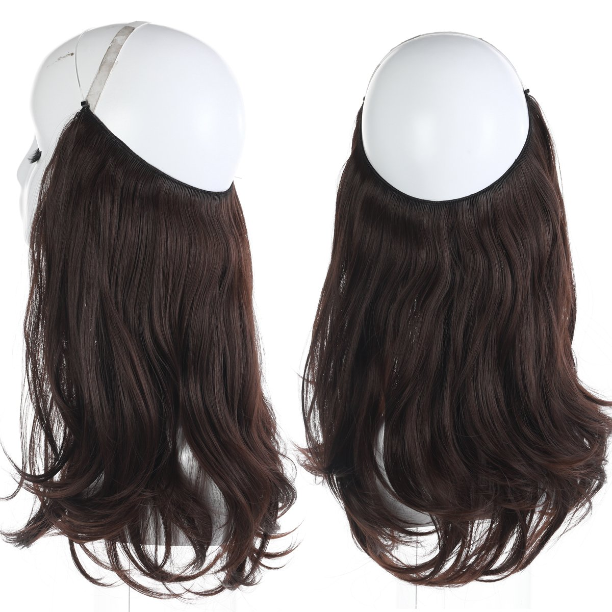 Amazon.com : Hidden Invisible Miracle Wire Hair Extensions One Piece ...
