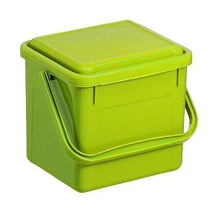 Rotho Compost Cubo bio, cubo de basura para la cocina de plástico con tapa en