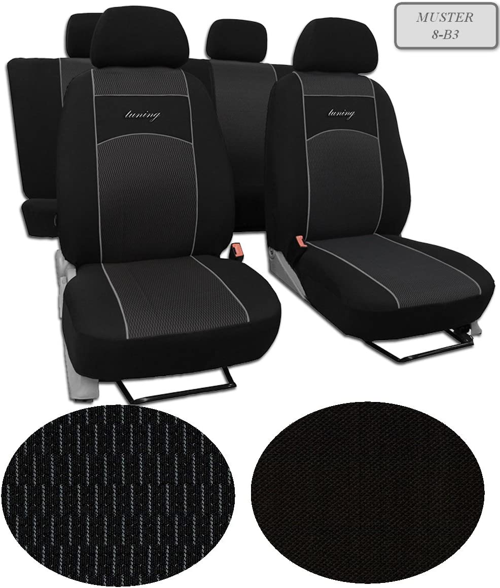 VW Caddy Universal Sitzbezug GT Schwarz Sitz Abdeckung