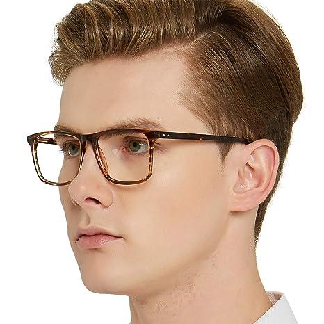 ef94dd0f8763 Optical Men s Eyewear Classic Non-prescription Eyeglasses  (D-Brown Tortoise)  Amazon.ca  Luggage   Bags