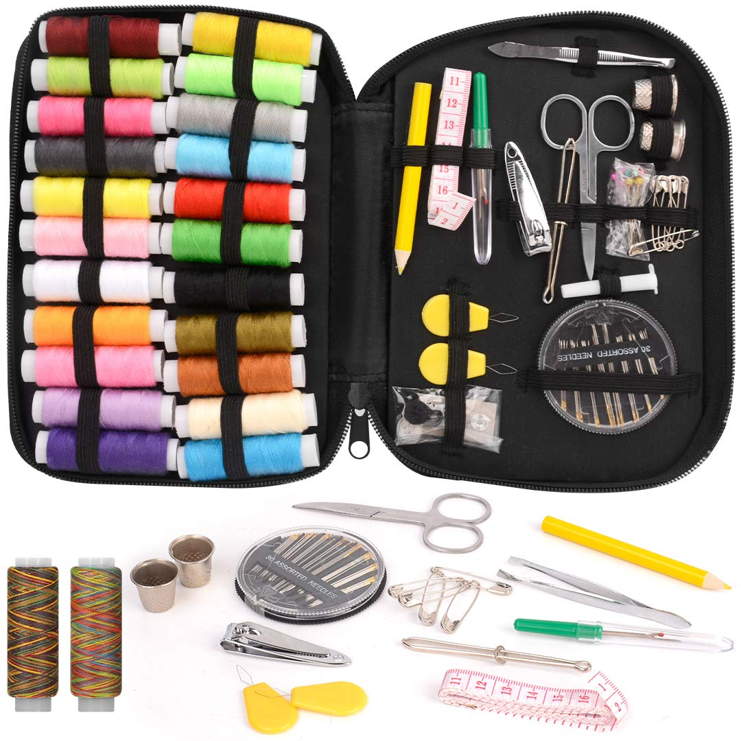 Mini Sewing Kits 98pcs Hand Sewing Tool Kit for Home Travel Camping and Emergency Use by STURME