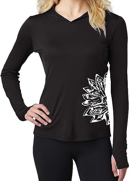 Yoga Clothing For You Ladies Sketch Lotus Lightweight Hoodie