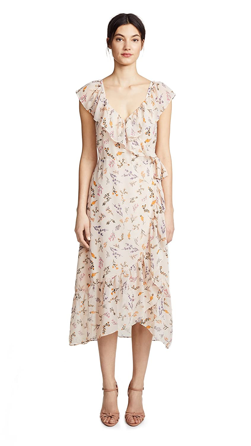 Rebecca Minkoff Womens Ruffled Floral Wrap Dress Pink XXS