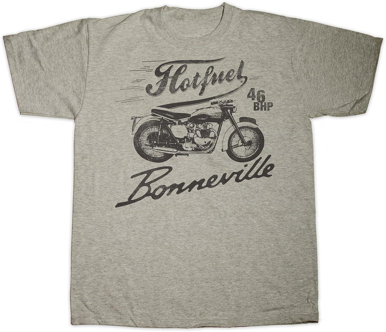 Toutes Tailles Hot Fuel Hotfuel Bonneville Moto Impression T-Shirt Small//–/5/x l