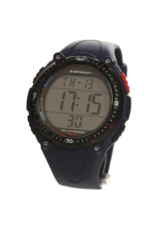 Dunlop Reloj Digital para Hombre de Cuarzo con Correa en Caucho DUN-56-G03: Amazon.es: Relojes