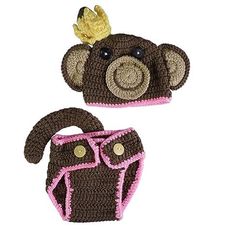 LUOEM Bebé recién nacido Fotografía Prop Chica Niño Crochet ...