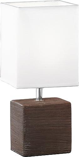 Honsel Leuchten 92771 - Lámpara de mesa, color marrón oscuro ...