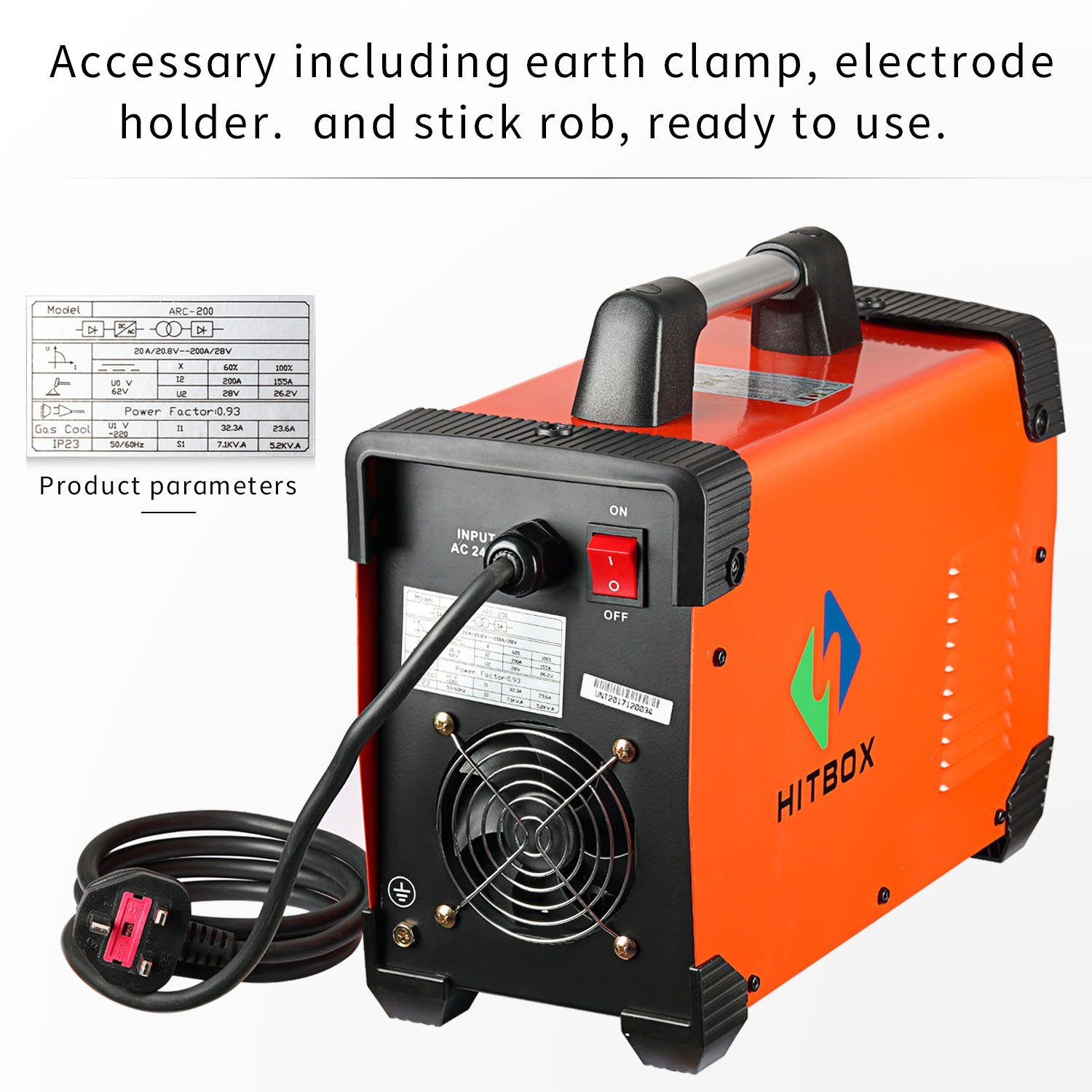 Stick Welder Arc 200 180a Igbt Mma Dc 220v Circuit Of Welding Inverter Arc200 View Machine With Earth Clamp And Electrode Holder Automotive