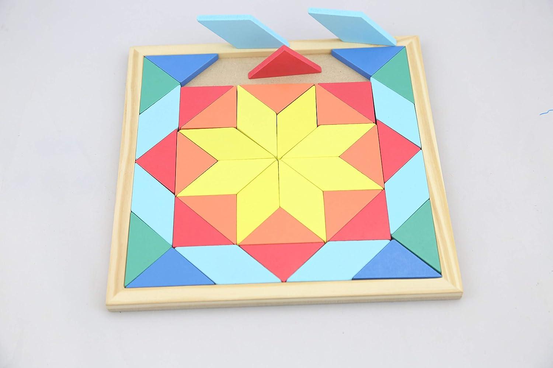 Holzspielzeug Spiel Kubus Legespiel Holzwürfel Puzzle mit Legebilder