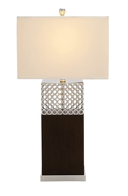 Etonnant Benzara Fascinating Styled Wood Stainless Steel Table Lamp