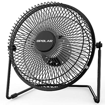 OPOLAR Office Quiet Desk Fan, USB Powered Only, 360 Degree Rotation,  Perfect Personal Fan, Mini Metal Cooling Fan Dorm Office Table - 5V 6 inch