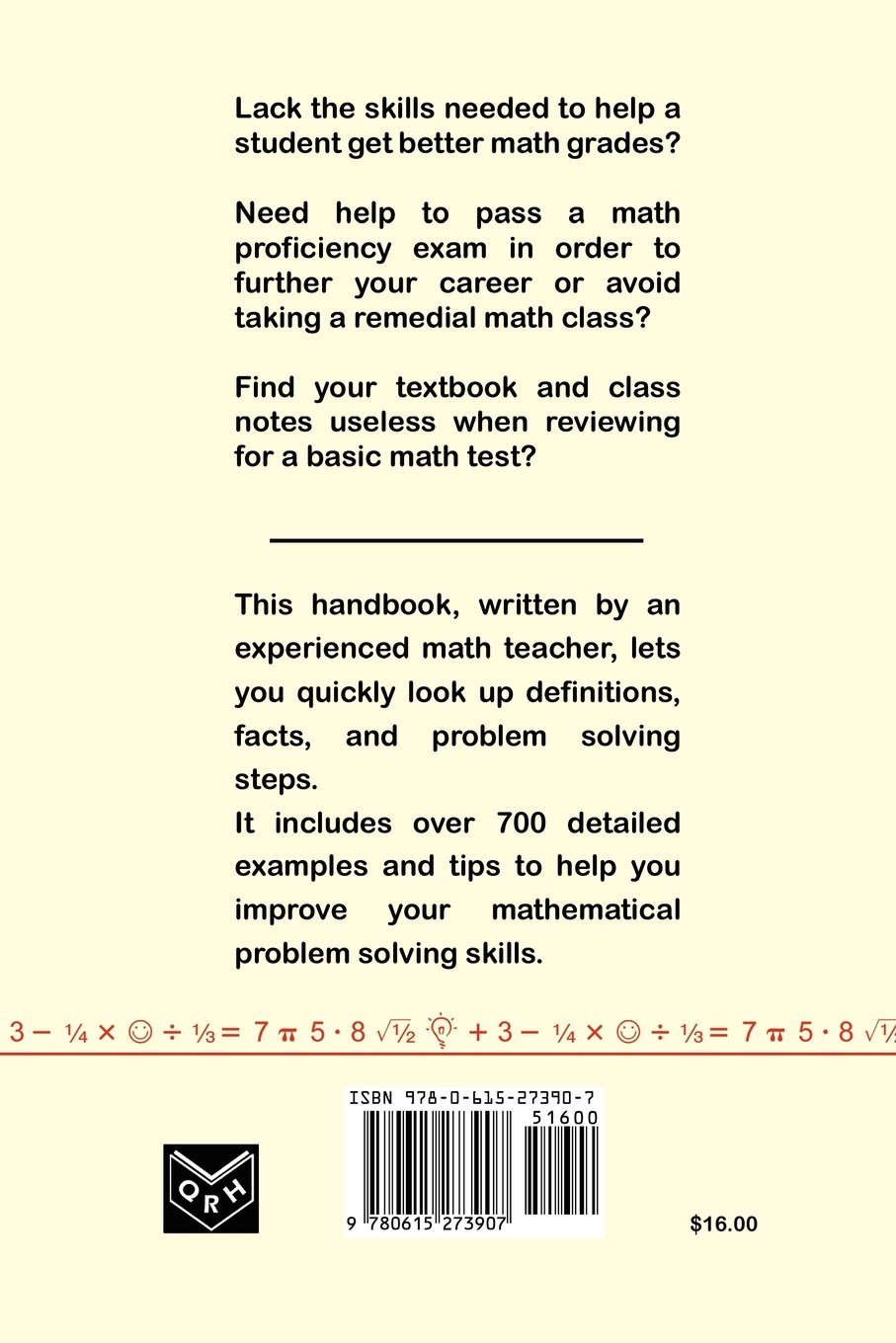 basic math quick reference handbook peter j mitas  basic math quick reference handbook peter j mitas 9780615273907 com books