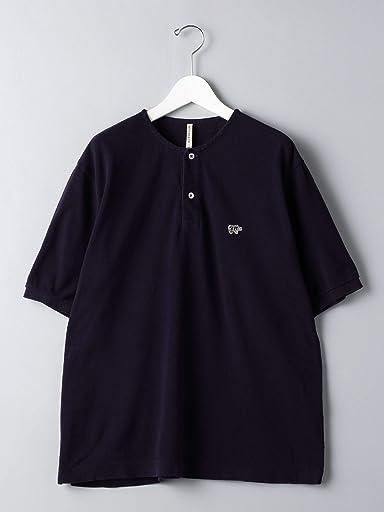 Scye Basics Pique Henley T-Shirt 5120-21711: Navy