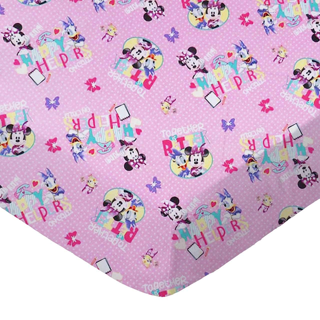 SheetWorld Fitted 100% Cotton Percale Pack N Play Sheet Fits Graco Square Play Yard 36 x 36, Minnie & Daffy, Made in USA