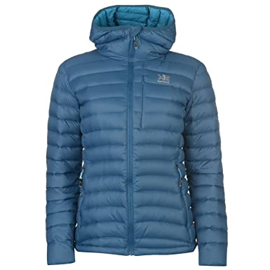 597ea4c94c9a Karrimor Womens Alpiniste Down Jacket Coat Top Chin Guard Water Resistant  Aquamarine Mari 10 (S)  Amazon.co.uk  Clothing