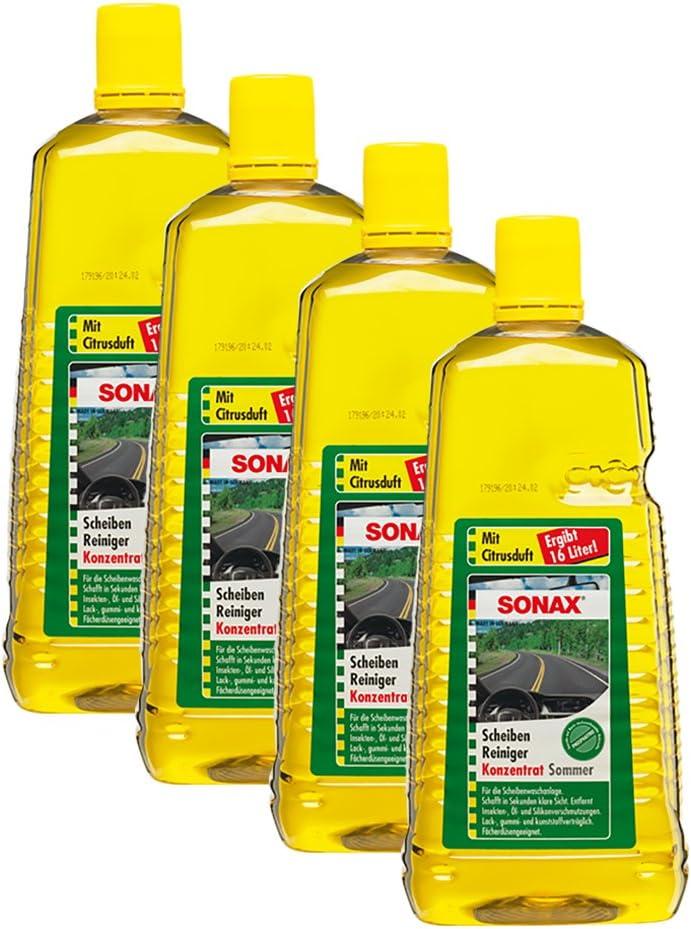 Sonax 4x 02605410 Scheibenreiniger Konzentrat Citrus Scheibenklar 2l Auto