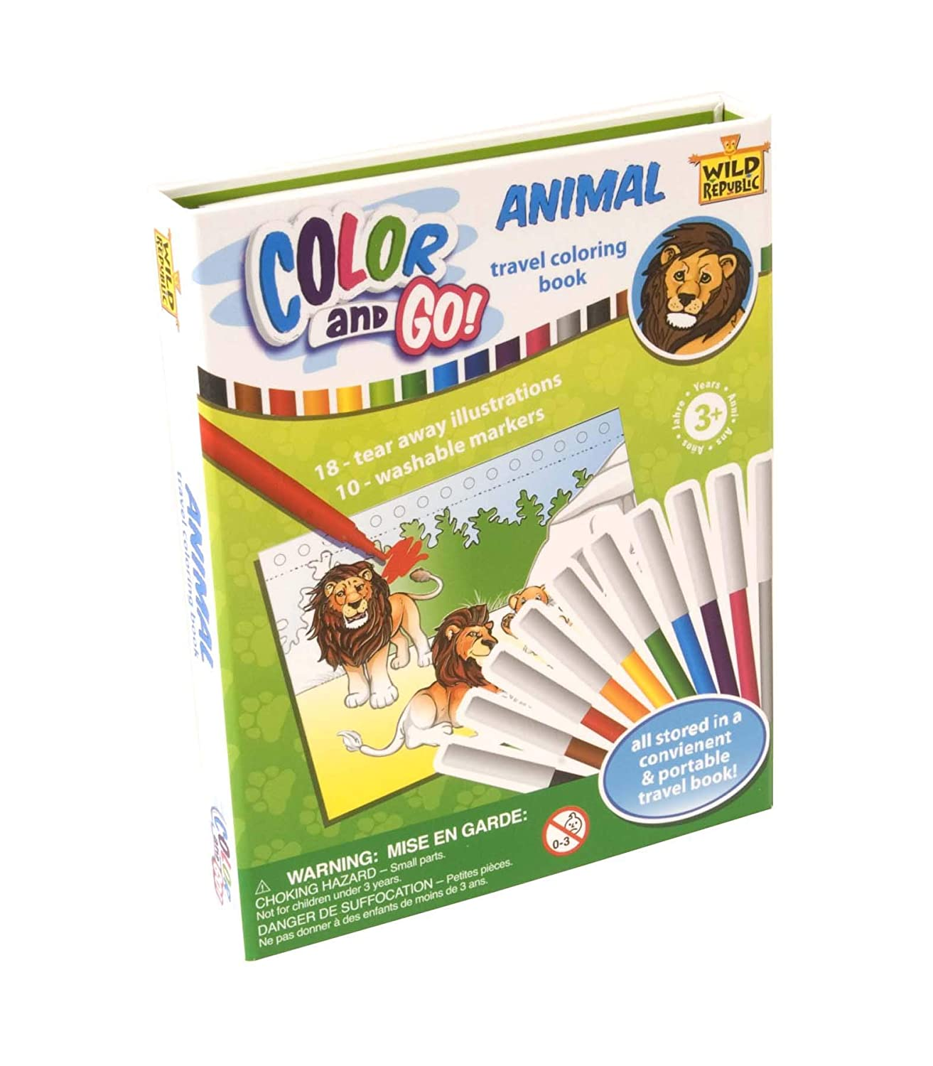 Stem Activities 18 Pages Color /& Go Wild Republic Dinosaur Coloring Books For Toddlers
