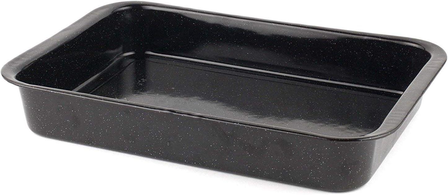 schwarz 40 cm Glasemaille-Backblech CW11441 von Russell Hobbs