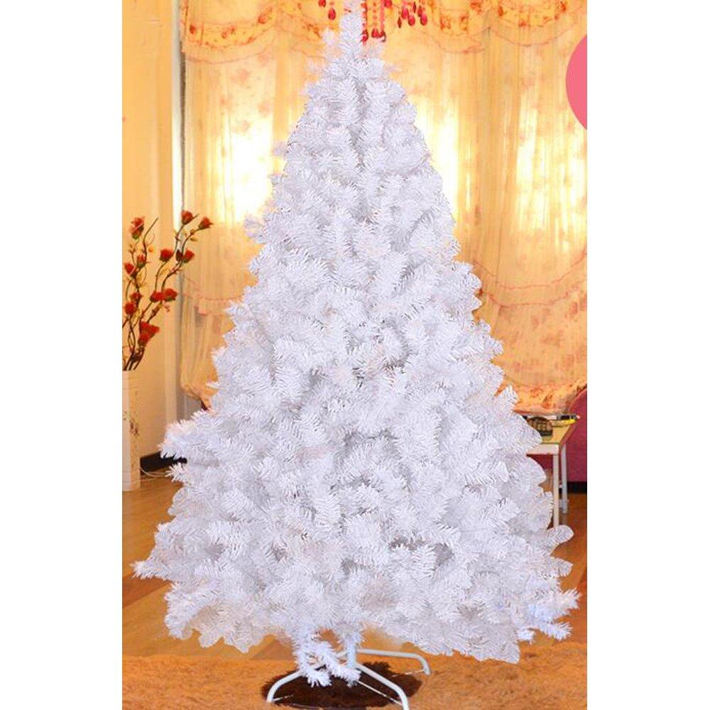 MCTECH 60cm PVC Arbre de No/ël Artificiel Festif Blanc d/écoration Arbre