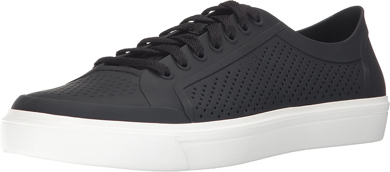 Amazon.com | Crocs Mens Citilane Roka Court Fashion Sneaker Black/White 4 M US | Shoes