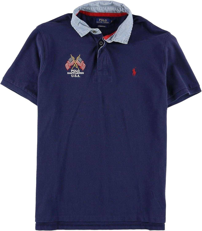 Ralph Lauren Mens Custom Fit Rugby Polo Shirt