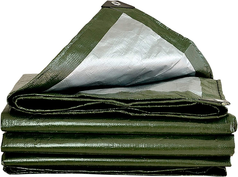 ANUO Lonas Cubierta De Lona Impermeable Resistente Material Grueso, Ideal para Lona Canopy Carpa Barco RV O Cubierta De Piscina (Color : Verde, Tamaño : 5x6m)