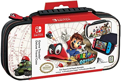 Official Mario Odyssey Travel Case White for Nintendo Switch ...