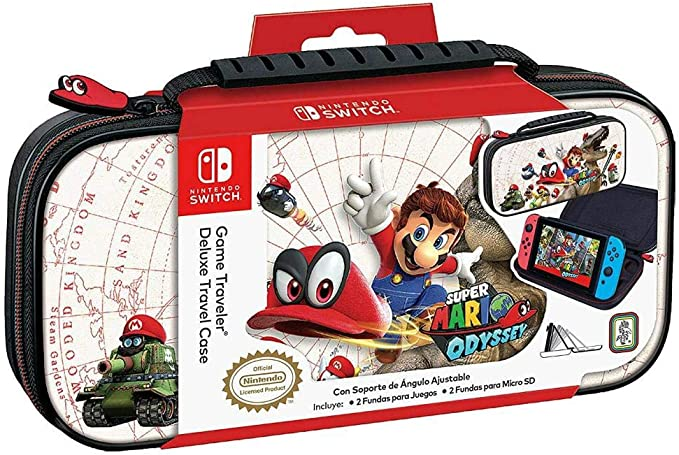 Official Mario Odyssey Travel Case White for Nintendo Switch: Amazon.es: Electrónica