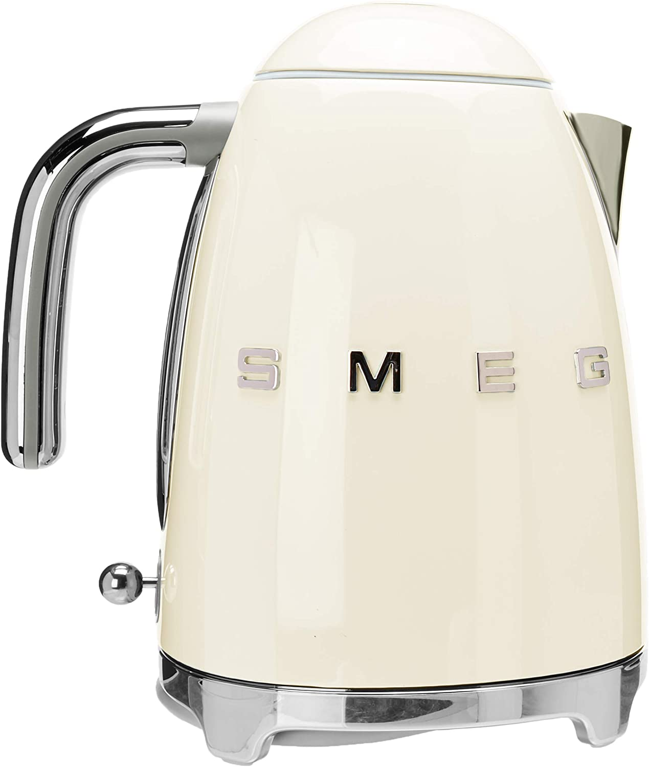 Smeg KLF03CRUS 50 s Retro Style Aesthetic Electric Kettle with Embossed Logo, Cream