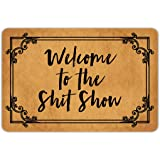Front Door Mat Muikoo Welcome Mat Welcome to The Shitshow Machine Washable Rubber Non Slip Backing Bathroom Kitchen Decor Are