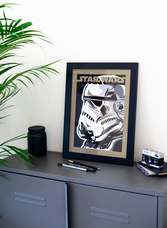 Quadro decorativo 30X40 Cm Star Wars Stormtrooper