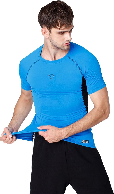 jeansian Homme T-Shirts de Sport Men Sportswear 3 Packs Sport Slim Quick Dry Short Sleeves Compression T-Shirt Tee LSL154